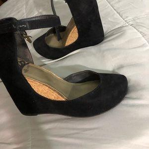 Suede black wedge size 6.5 US
